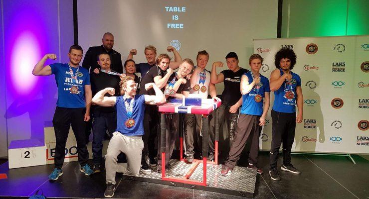 Rejäl medaljskörd för Svenska armbrytare på Open Nordic Armwrestling Championship 2018!
