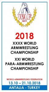 Världsmästerskapen i Armbrytning (VM) 2018